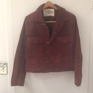 Urban outfitters Maroon suede jacket